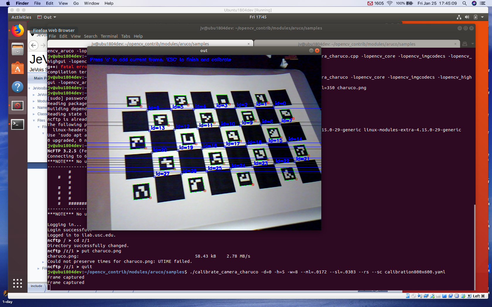 JeVois Tutorials: Calibrating your camera for ArUco and other OpenCV