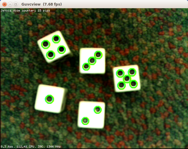 JeVois Tutorials: A JeVois dice counting module in C++