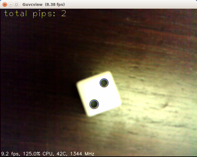 JeVois Tutorials: JeVois python tutorial: A dice counting module